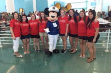 Illinois State students meet Mickey Mouse
