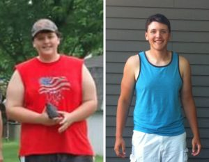 Sean Conro before and after losing weight