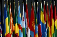 Image of flags of African nations from the Brookings Institute.
