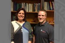 Photo of Outstanding Teacher Award Recipients Marion Willetts and Craig Cullen