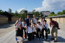 ISU geography students with local junior high students at Horyuji Temple near Nara. This temple is considered to be the oldest wooden structure on Earth, with tree-ring data putting its construction at more than 1300 years ago.