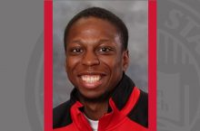 Senior track team member and engineering technology major Jalen Lewis head shot