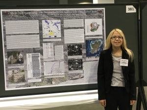 Lexi Wallenberg Presenting her poster at the Geological Society of America Conference in Denver.