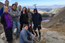 Group of geology students at Mount Evans.