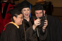 Jane Lynch snapping a selfie at Founders Day.