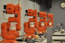 ABB robots in Caterpillar Lab