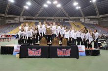 MVC Indoor Championships athletes onstage