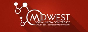 Logo for the @Midwest Social Media Conference