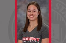 Senior gymnast and exercise science major Samantha Ward
