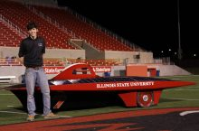 Cole Berglind with Illinois State Solar Car