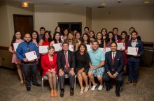 Students at Latino recognition ceremony