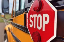 K-12 School buss stop sign