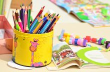 Early childhood education colored pencils