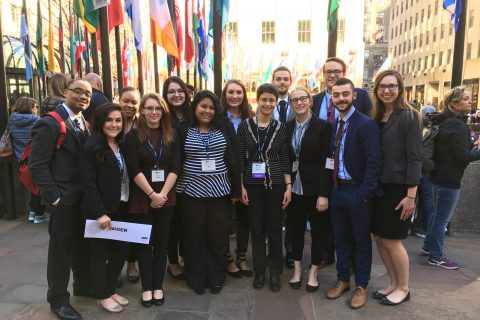 Politics and Government students win Honorable Mention Delegation at Model UN conference article thumbnail