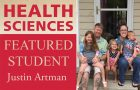 Health Sciences featured student: Justin Artman article thumbnail