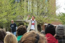 Wolfgang Stein speaking at the March for Science in Normal