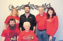 Members of the Raycraft family who are Redbirds include Lucas and Barbara, seated. Standing, from left, are Laura, Adam, Jim and Dawn.