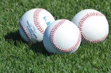 three baseballs