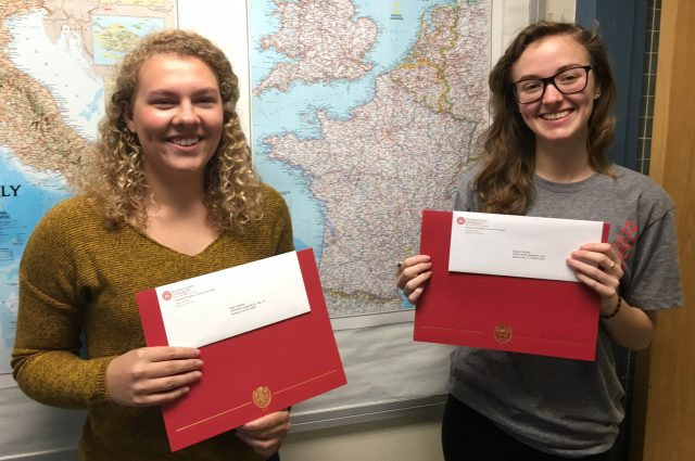 French undergrad students recognized at ceremony article thumbnail