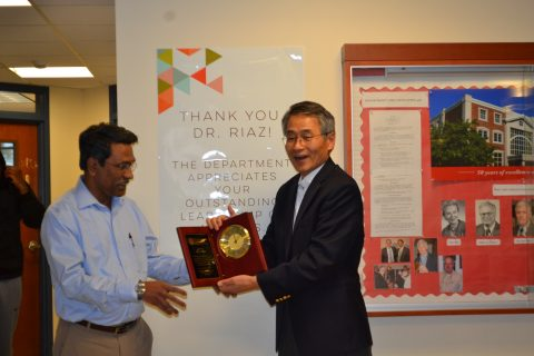 Celebration of Ali Riaz's 10-year service as department chair article thumbnail