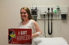 Amanda Matthews, graduate student in the family nurse practitioner program, has been hired by Renal Care Associates Inc.