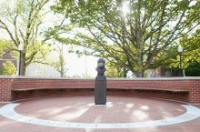 The newly dedicated Redbird Plaza