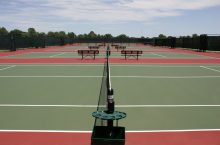 empty tennis courts