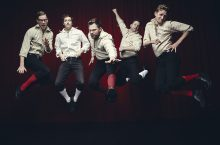 Players from the Improvised Shakespeare Company.