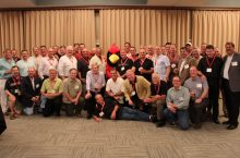 Alumni of Sigma Nu gather at a reunion