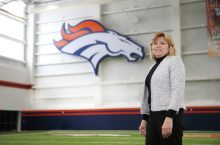 Nancy Svoboda during the Employee Service Awards at Pat Bowlen Fieldhouse in Centennial, Colorado, May 18, 2017.