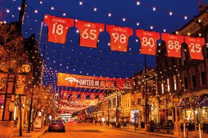 Downton Denver was ablaze for the Broncos during the 2015 NFL playoffs.