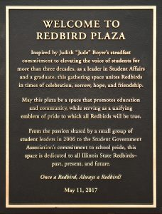 Redbird Plaza plaque