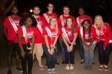 Group of students in Homecoming shirts