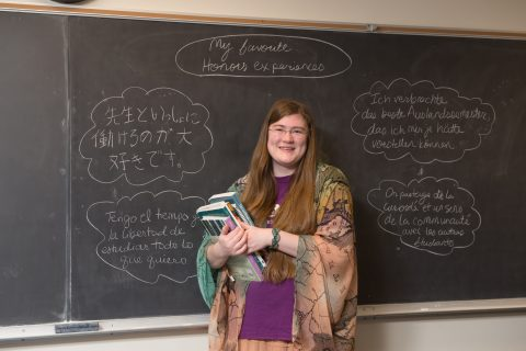 Honors student and language scholar Emily Brown notes her favorite Honors experiences in four languages.