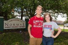 Nashville natives Kelsie Klingenberg and Sam Polczynski show their hometown and university pride.