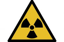 radioactive warning symbol for map