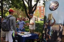 Peace Corps recruitment table
