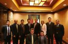 Illinois State's administration meets with representatives from SWU in China.