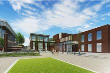 drawing of the Bone Student Center with revitalization completed