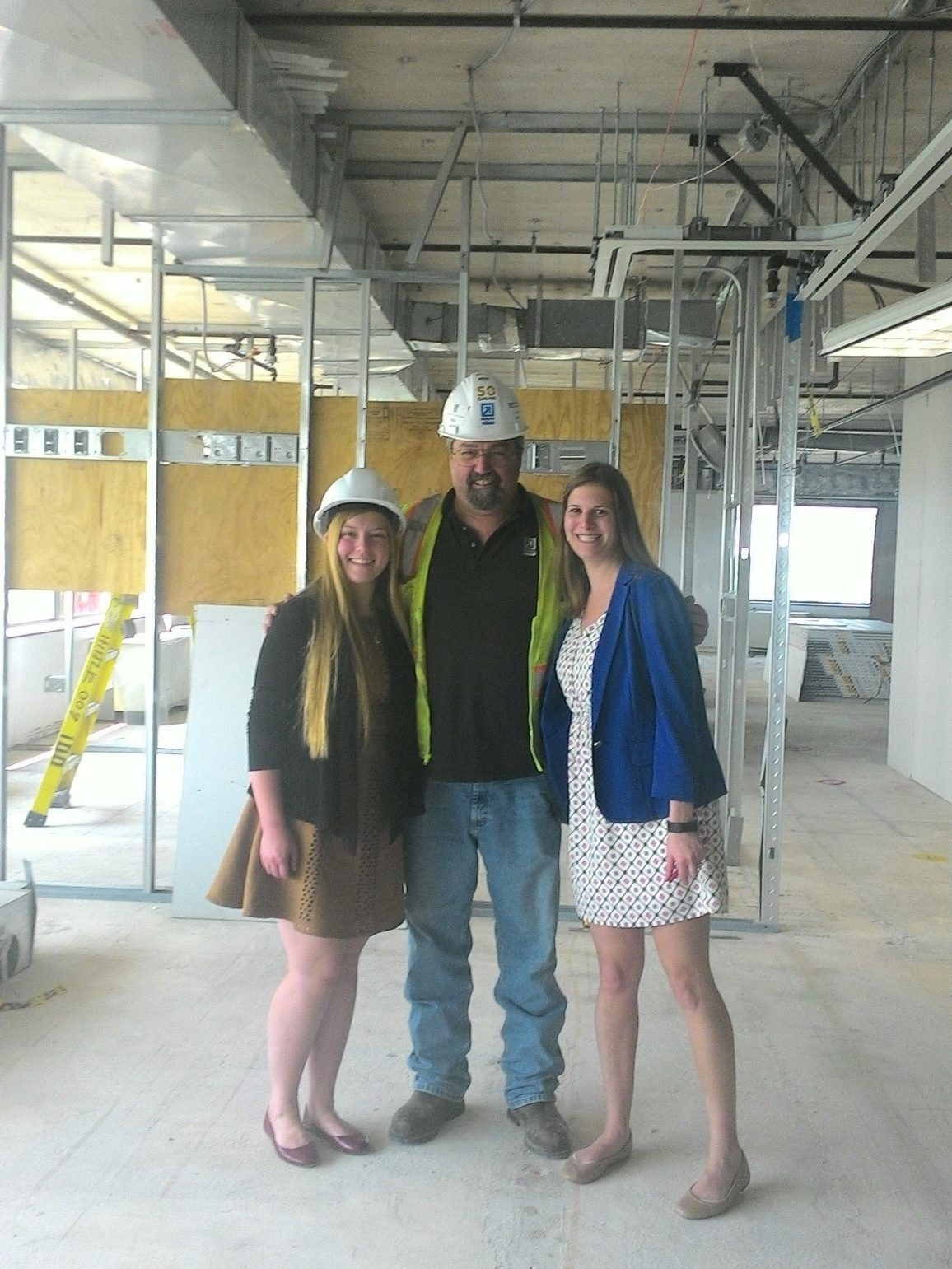 Erin Kurechi Left On A Job Site With The Contractor And Interior Designer