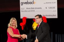 photo of scholarship check presentation