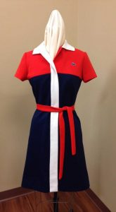 Woman's Lacoste polo-style dress, c. 1970s. Donor: Jeanne Blines.