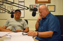 Willis and Scott in studio