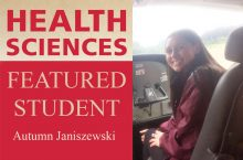 Health Sciences featured student Autumn Janiszewski
