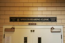 Speech and Hearing Clinic building sign