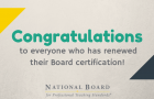 Congratulations renewed National Board-certified teachers article thumbnail