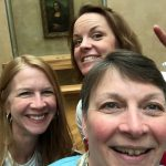 Julie Burns, Jen Friberg and Heidi Harbers from the Communication Sciences and Disorders Department exploring Paris.