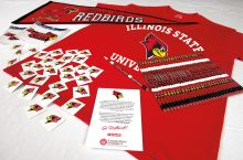 Redbird-themed classroom supplies