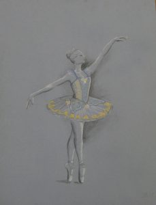 Costume rendering of classic tutu