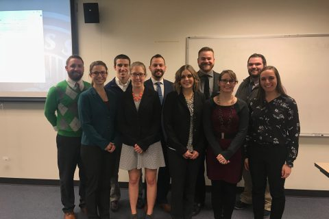 The 10 CAST graduate students who participated in the 3MT competition.